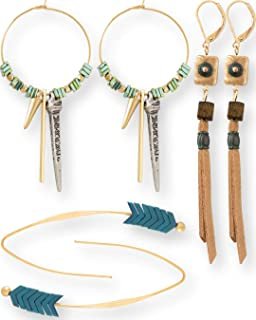 Blue Bocas Boho Earrings for Women 2019 Collection Mega Pack | Unique Statement Drop and Dangle Bohemian Jewelry