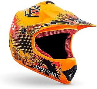 ARMOR Helmets AKC-49 Kinder-Cross-Helm, Schnellverschluss Tasche, XS 51-52cm, Limited Orange