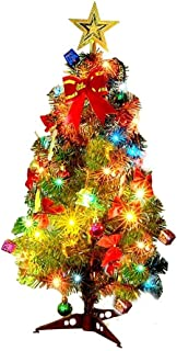 aipipl Arbre de Noël Bricolage Ornements Joyeux Arbre de Noël Comprend 23pcs décorations d'arbre de Noël Ornements et lumi...
