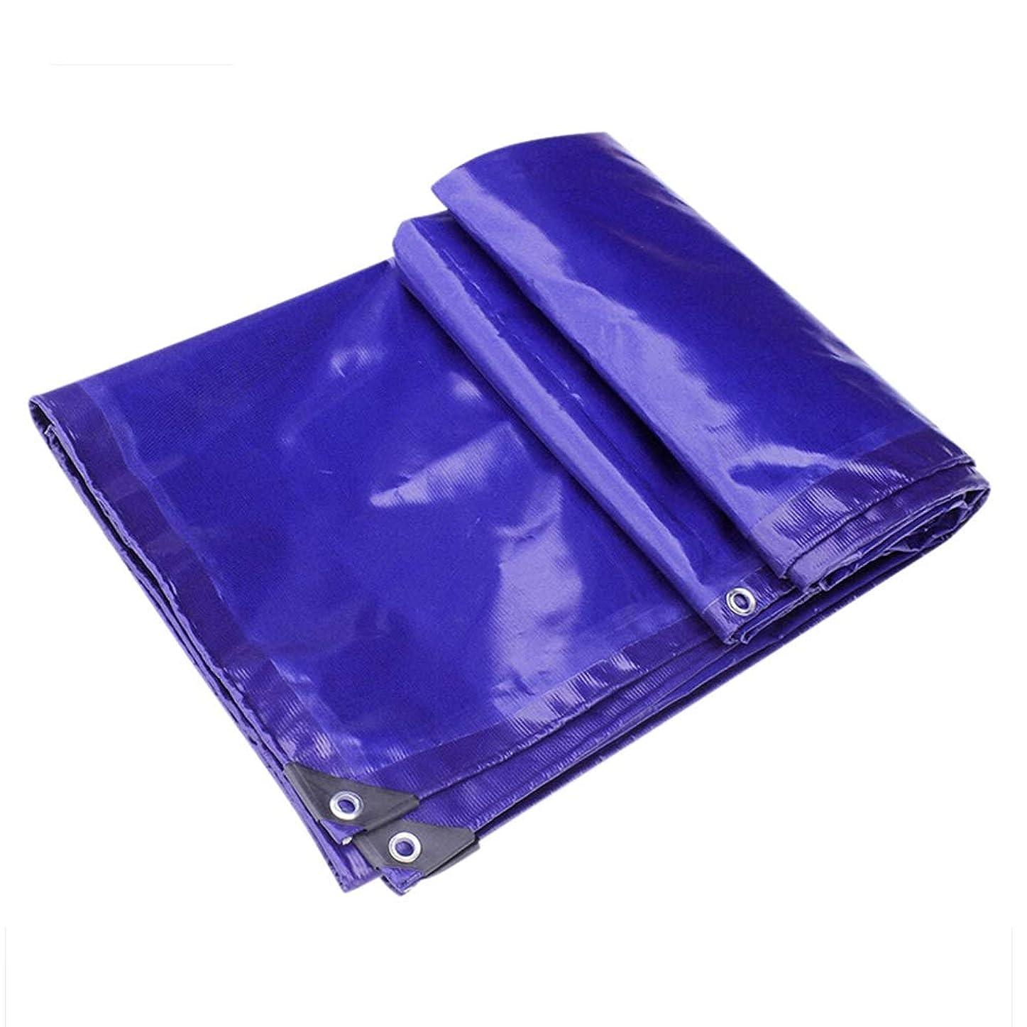 白菜側溝騙すXSDAA な防水ターポリン レインプルーフ 三反布 ポンチョ 日焼け止め 断熱する ヘビーデューティタープ PVC 車 ボート 防水布 キャンプする、 8サイズ (Color : Blue, Size : 2.8x5.8m)