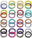 KOHOTA 32PCS Waist Beads for Women Colorful Summer Body Chains Belly Beads Bikini Jewelry Chains Bead Waist Chains Set