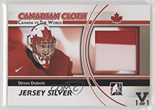 Devan Dubnyk #1/1 (Hockey Card) 2011-12 In the Game Canada VS the World - Canadian Cloth - Silver Jersey 14-15 ITG Ultimate Vault Silver #CCM-06