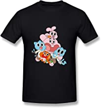 QMY Men's The Amazing World Of Gumball T-shirts Black