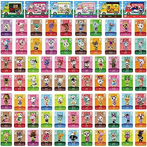 81 Stück NFC-Karten für Sanrio Animal Crossing New Horizons Amiibo kompatibel mit Switch/Switch Lite/Wii U/New 3DS mit Case