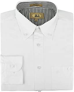 AKA Mens Wrinkle Free 100% Cotton Button Down Collar Casual Shirt (Big