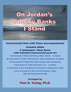 On Jordan's Stormy Banks I Stand: Instrumental Solo with Piano Accompaniment (Instrumental Solo with Piano Accompaniment C...