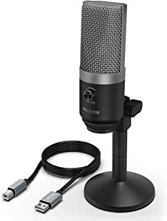 USB Microphone,Fifine PC Microphone for Mac and Windows Computers,Optimized for..