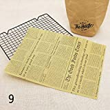 XIAOSI Reusable 50Pcs/Lot Sandwich Baking Tools Loaf Bread Grease Paper Oilpaper Food Wrappers Wax Paper(9)