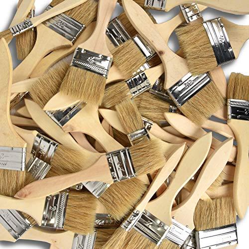 50 Profi Pinsel Malerpinsel / Pinsel-Satz mit Holzgriff Neu&OVP