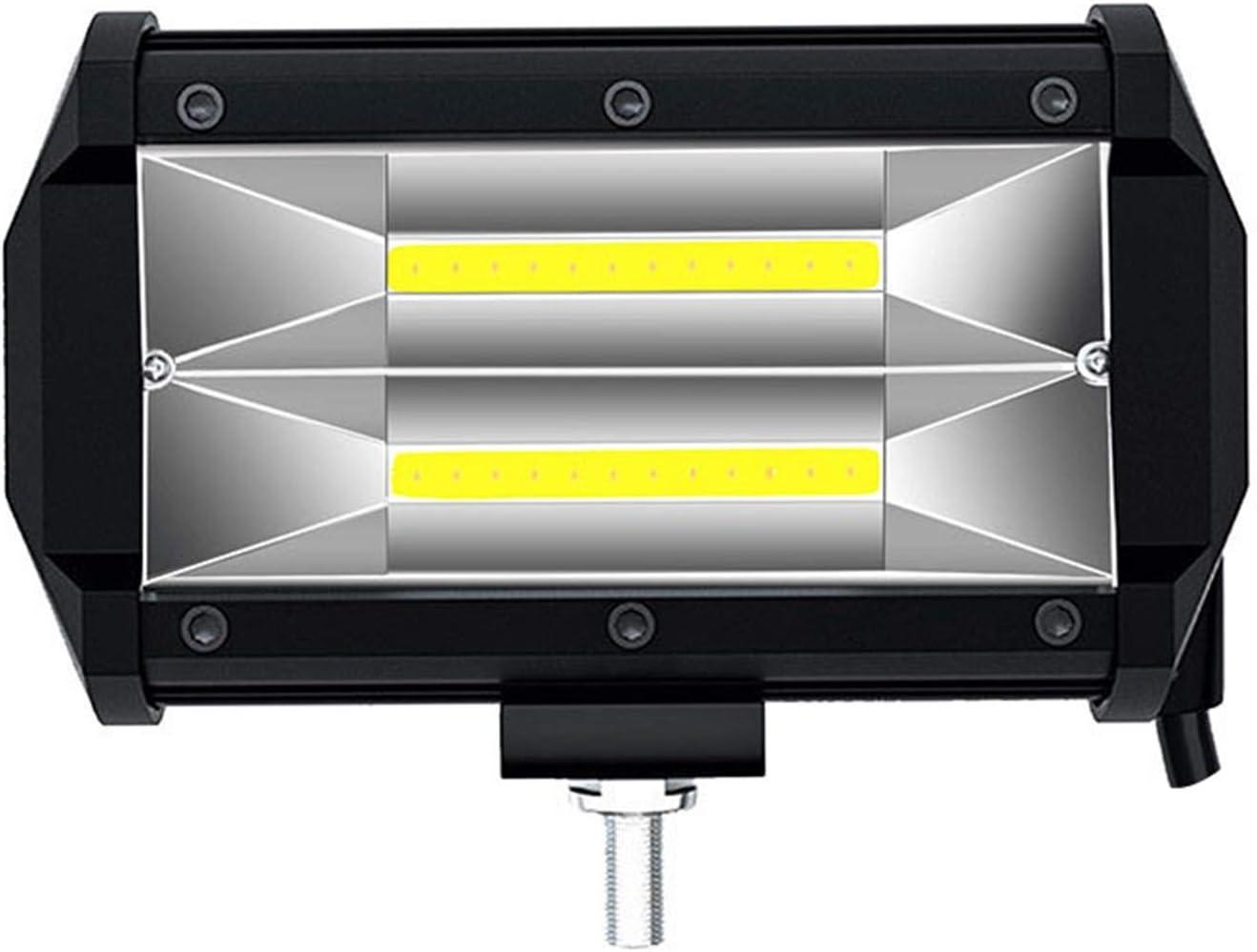 Buscador de peces LKT 1PS LED Coche Luz de trabajo 12V 24V 72W lámpara antiniebla para accesorios de carretera 4x4 SUV ATV Motorcycle Cars Truck Vehicle Light Pesca del transductor LCD Monitor