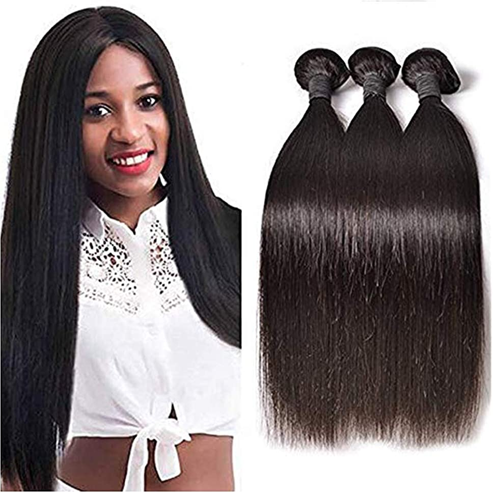 それから線形抜本的な女性10Aブラジルバージン人間の髪の毛1バンドルストレートウェーブ横糸100%本物の人間の毛髪エクステンション自然毛織り