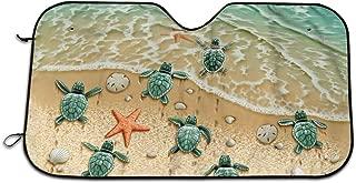 Turtles On The Beach Auto Windwhield & Side Sun Shades for Car Auto (Sedan Truck SUV Van) - Accordion Style