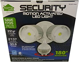 Home Zone 64321 Mark 1 Outdoor LED Flood Security Light, 30W, 2200 Lumen, White