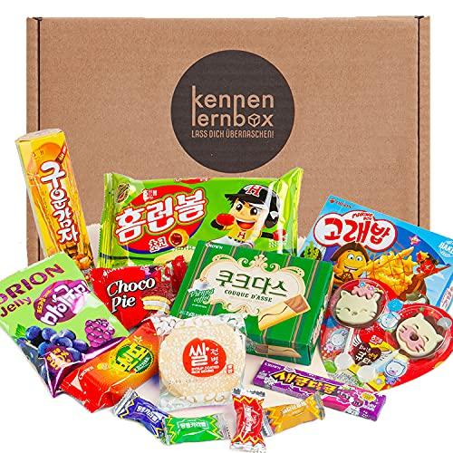 Korea Box | Kennenlernbox mit 14 beliebten Süßigkeiten aus Korea | Geschenkidee für besondere Anlässe wie Geburtstage