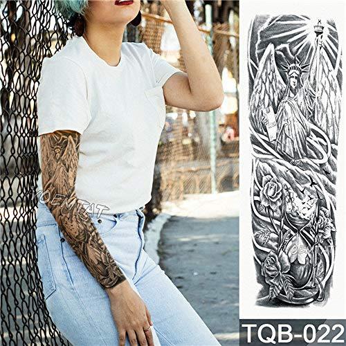 Etiqueta engomada del tatuaje Tiger Flower Lotus Full Flower Tattoo con brazo Body Art Tattoo grande