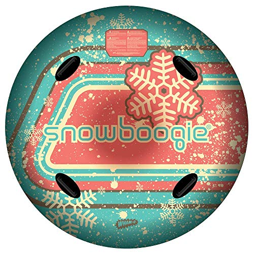 Wham-O Snowboogie Air Tube 48  | Single or Double Rider Snow Sleds | Inflatable Sled with Soft Handles | Slick Bottom for Speed & Control | Snow Sledding for Adults & Children | Holidays & Winter