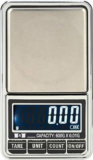 Báscula usb recargable/Batería digital para joyeria/cocina/alimentos 0.01g,Roeam Balanza electronica bolsillo portatil Escala mini LCD