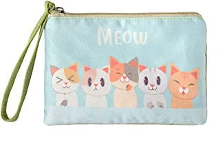 Cute Canvas Cash Coin Purse, Make up Bag, Cellphone Bag with Handle
