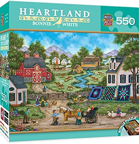 MasterPieces Heartland Collection Roadside Gossip Puzzle (550 Piece) by MasterPieces