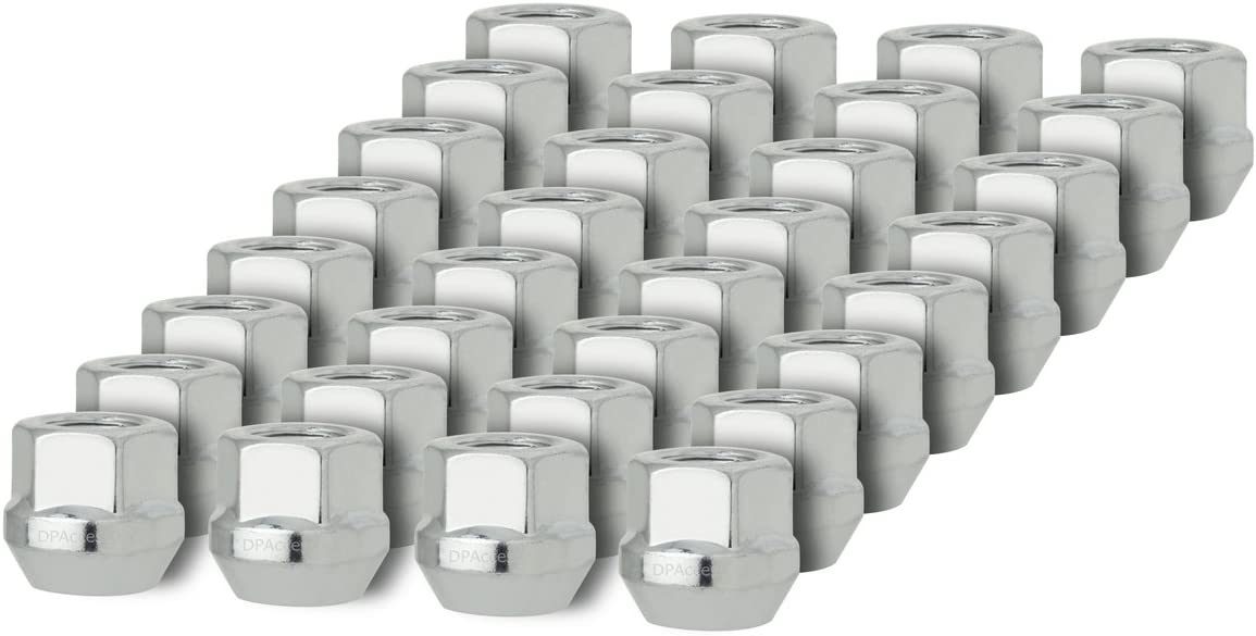 DPAccessories D2123-2308//24 24 Silver 9//16-18 Open End Bulge Acorn Lug Nuts for Aftermarket Wheels Wheel Lug Nut