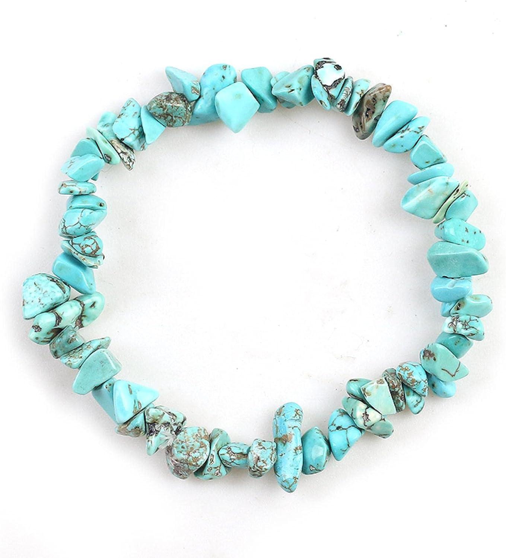 shangwang Natural Irregular Bracelet for 55% OFF Crystal B Max 59% OFF Elastic Women