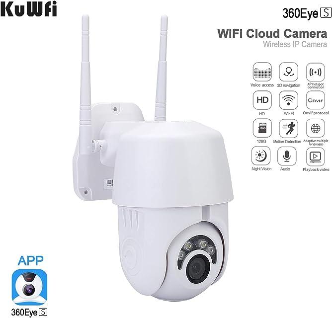Cámara IP WiFi 2MP 1080P Domo inalámbrico PTZ Speed CCTV IR Onvif Cámara Vigilancia de Seguridad Exterior IpCam Camara Exterior