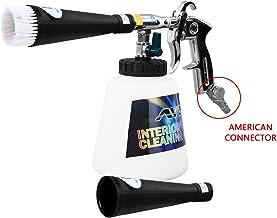 تفنگ تمیز کننده اتومبیل YVO اتومبیل داخلی پنوماتیک تمیز کننده شستشوی تفنگ گرد و غبار با تجهیزات تمیز کننده اتومبیل فنجان 1000 میلی لیتری فوم (نسخه نازل فلزی به روز شده با کانکتور ایالات متحده)