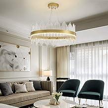 NANSONG LED Modern K9 Dimmable Crystal Raindrop Chandelier Lighting Flush Mount Home Ceiling Light Lighting Fixture Pendan...