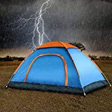 TOMORROW SHOPPING Picnic Portable Waterproof Tent 4-Person Dome Tent- Rain Fly & Carry