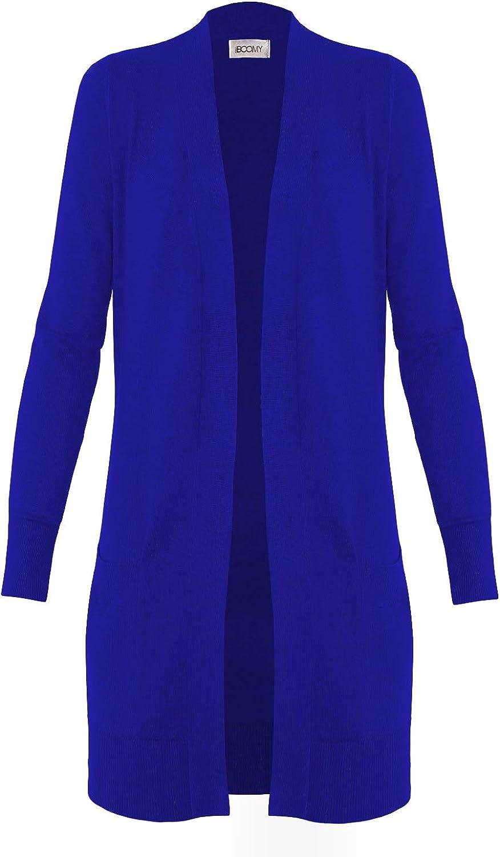 FASHION BOOMY Women's Open Front Long Cardigan - Long Sleeve Sweater - Classic Duster Knit