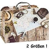 alles-meine.de GmbH Kinderkoffer / Koffer - MITTEL - Abenteuer Urlaub & Reise - für Spielzeug und als Geldgeschenk - Mädchen & Jungen - Kinder & Erwachsene - Pappe Karton - Pappk..