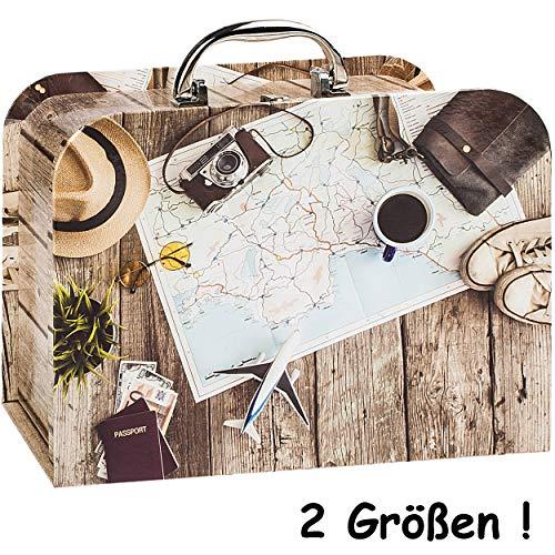 alles-meine.de GmbH Kinderkoffer / Koffer - GROß - Abenteuer Urlaub & Reise - für Spielzeug und als Geldgeschenk - Mädchen & Jungen - Kinder & Erwachsene - Pappe Karton - Pappkof..