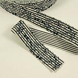 Stoffe Werning Gummiband Totenköpfe 4 cm breit grau -Preis