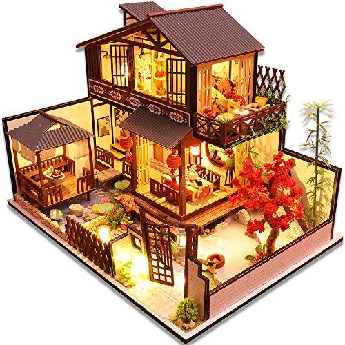Haus Garden Ornament Miniature DIY Dollhouse Frohes Neues Jahr Zuhause Dekor DL