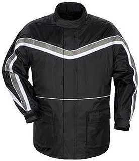 Tourmaster ELITE II RAIN MOTORCYCLE JACKET BK/SL SIZE:MED
