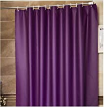 Frank Home Shower Curtain Set with Hooks PEVA Solid Purple Color Excellent Waterproof Bathroom Accessories Bath Curtain 71