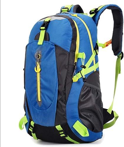 ZXH77f Sac à Dos De Randonnée pour Hommes Et Femmes Sac d'alpinisme Grande Capacité pour Sac à Dos De Voyage Multifonctionnel Résistant à l'eau (45L) (Couleur   bleu)