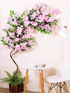 6.5FT Fake Wisteria Tree Artificial Cherry Blossom Greenery Plants Nursery Pot Decorative Trees for Wedding Event Indoor O...