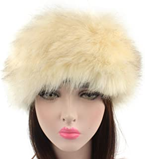 6e45aa457f9 DOSOMI Women Faux Fox Fur Hat Winter Thick Warm Fluffy Fur hat Headband Ear  Warmer Hats