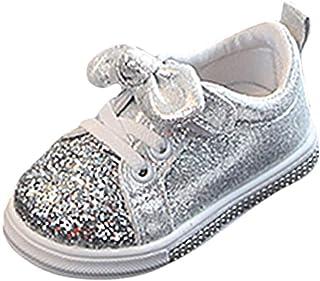 WINJIN Basket Enfant, Bébé Filles Bébé Garçons Chaussures Enfants Toddler Bowknot Chaussures Paillette Baskets Premiers Pa...
