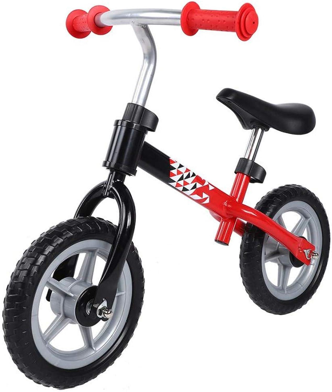ahorra 50% -75% de descuento FJHLZ Rueda Rueda Rueda Antideslizante De Bicicleta para Niños Sin Pedal Walker Ajustable para Niños Bicicleta Bebé Roja Y Negra  precio al por mayor