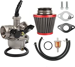 PZ19 Carburetor 35mm Air Filter Fuel Filters Fuel line Gaskets Kit Replacement for Taotao KAYO ATV Carb with Chinese Made 50cc 70cc 90cc 100cc 110cc Dirt Bike Scooter Moped Go Karts