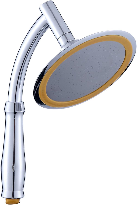 JINZA Handheld Stainless Steel Shower Head 6 Inch Fine Metal Pinhole Fancy Sprinkler Dragon Sprinkler Bathroom Bath Round Intensive Sprinkler Shower Head Industrial Metal Finishing Completed, C