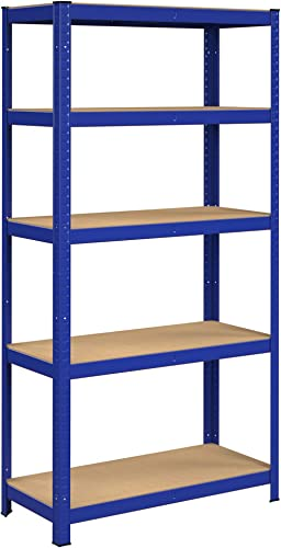 SONGMICS Étagère à 5 niveaux, Étagère métallique, robuste, planches réglables en hauteur, charge totale 875 kg (175 k...