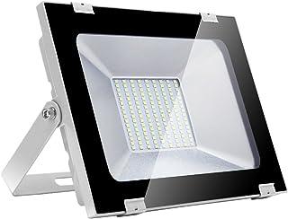 comprar comparacion Yuanline Focos LED Exterior de Blanco Frío 100W 10000LM, 6000-6600k, Ultrafino y Ultraligero para Jardín, Garaje, Patio, E...