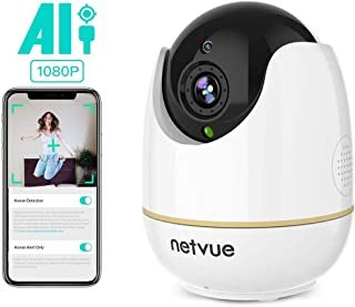 Pet Camera - 1080P Wireless Indoor Camera with Human Detection, Cloud Storage 24-Seconds Smart Clips, 2 Way Audio, Night Vision, Pet Monitor on iOS, Android, Home Camera Alexa Compatible