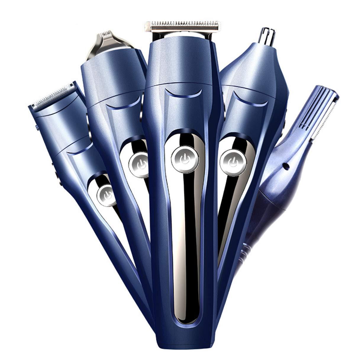 Tondeuse à barbe multifonction 5 en 1 sans fil rechargeable pour homme avec base
