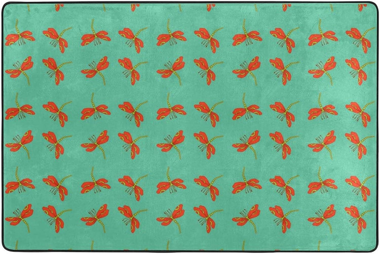 MONTOJ Dragonfly Pattern Weathertech Floor mats Area Rugs for Living Room Bedroom Home Decoration Carpet Doormat Wearproof