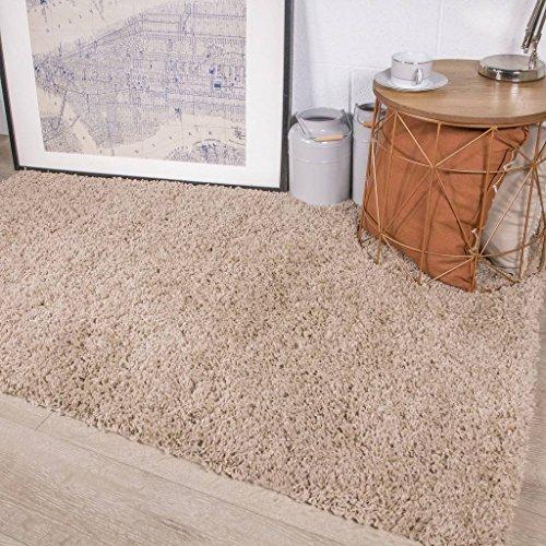 The Rug House Ontario Beige Luxuriöser Pflegeleichter Dicker Weicher Langfloriger Teppich