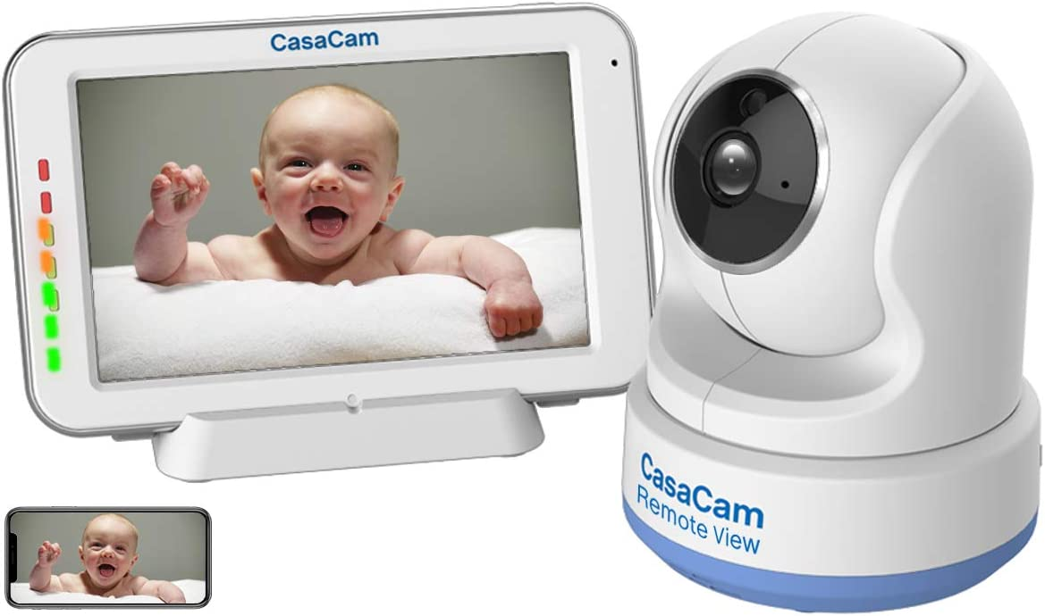 CasaCam Dual Mode Local & Remote View Baby Monitor with 5
